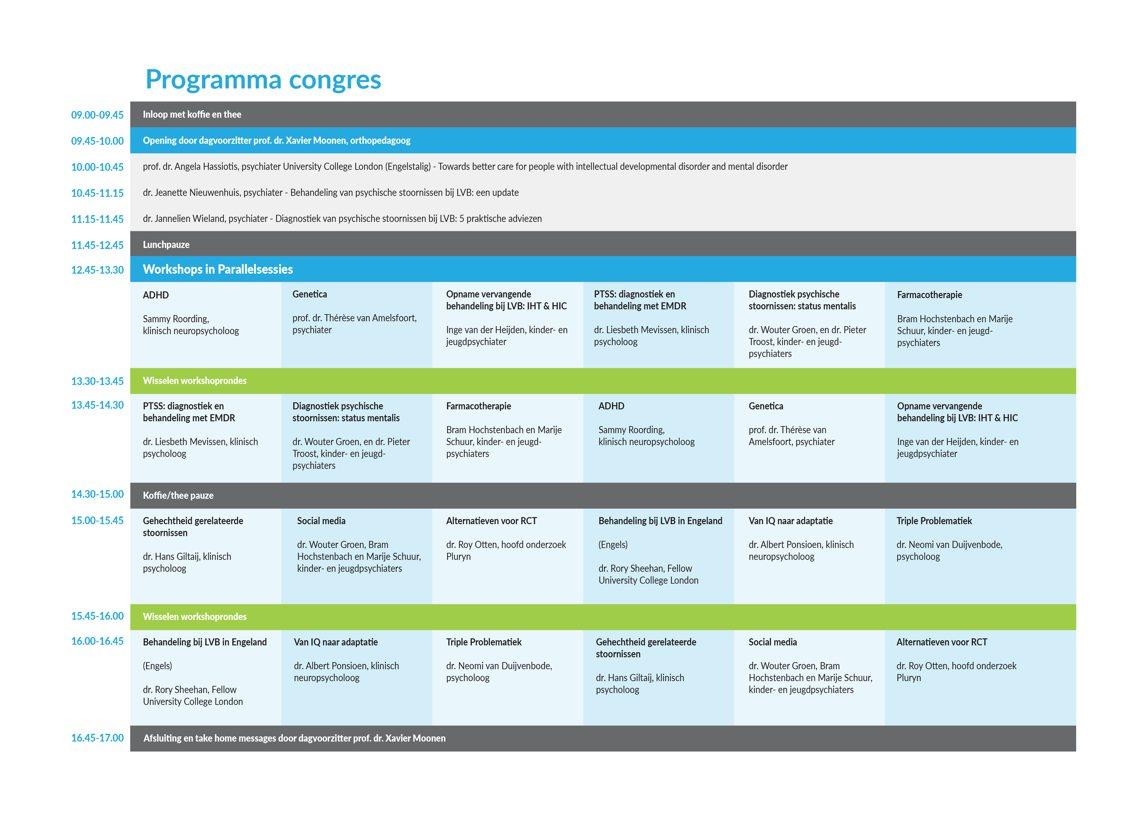 Programma Congres psychiatrie en LVB: werken aan samenspel