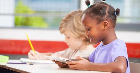 Schrijven en werken op de tablet in de klas