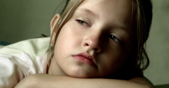 Meisje depressief