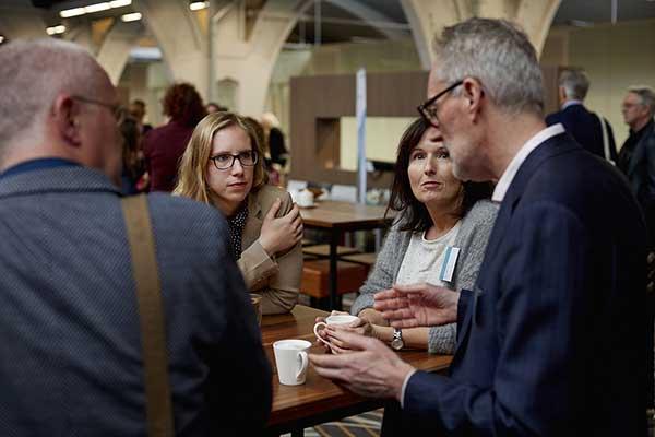 Koffiedrinken op Van wijk tot wetenschap 2017