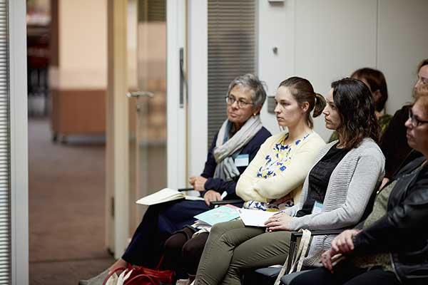 Aandachtige luisteraars tijdens een workshop op Van wijk tot wetenschap 2017