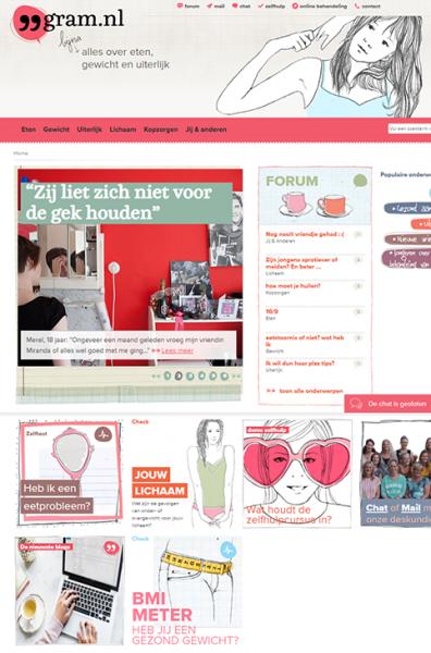 99gram.nl ehealth voor jongeren met Anorexia