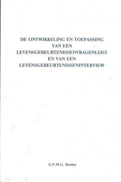 Cover Ontwikkeling Levensgebeurtenissenvragenlijst