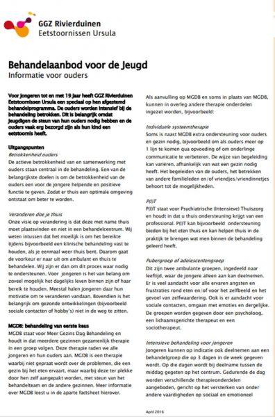 Behandelmethode Meergezindagbehandeling (mgdb) Ggz Rivierduinen Eetstoornissen Ursula