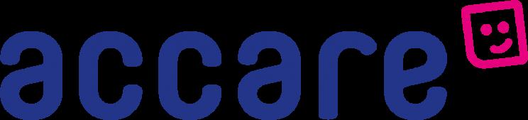 Het logo van Accare