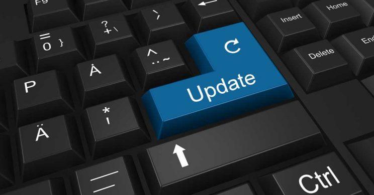 Toetsenbord met update toets