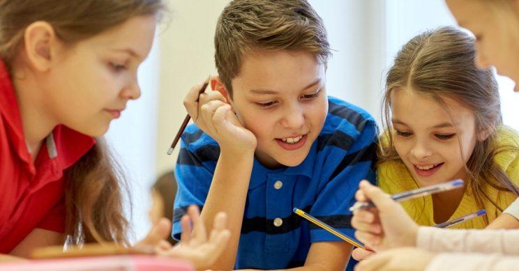 Kinderen school samenwerken