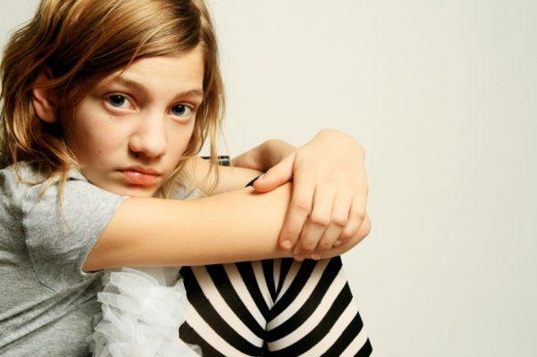 Meisje streepjeslegging