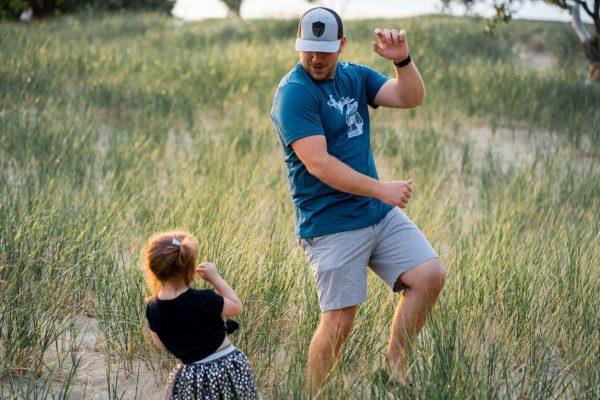 Meisje vader dansen